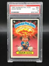 1985 topps garbage pail kids #8a adam bomb rc; license back psa 8 💥 hot card!