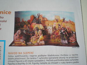 Dioramas Indian village Czech rare Paper Model