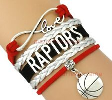 Toronto Raptors Infinity Jewelry Bracelet NBA Basketball Charm BRAND NEW