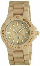 WeWood Mens Date Quartz Wood Casual Watch, Color: Assunt Beige