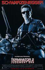 "Terminator 2 movie poster - Arnold Schwarzenegger - 11"" x 17"""