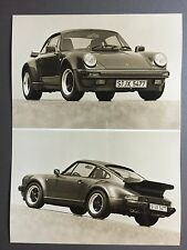 1989 Porsche 911 Turbo Coupe B&W Press Photo Factory Issued RARE!! Awesome L@@K