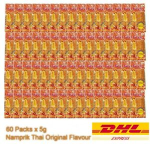 60 Packs BENTO 5g THAI SQUID SEAFOOD SNACK THAI SPICY CHILLI FOOD Flavour