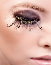 Sexy Brown Gold Feather False Eyelashes Extensions Baci Starlight Edition