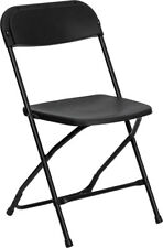 650 Lbs Weight Capacity Commercial Quality Black Plastic Folding Chair