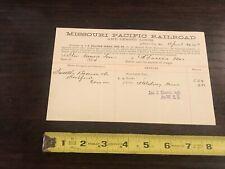 1887 MISSOURI PACIFIC Railroad. Co. LADING BILL