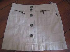 Whoopi NEU leichter Jeansrock Rock beige Gr.110 Sommerrock Minirock