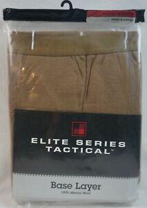 WoolRich Elite Series Tactical Base Layer MEN'S XL Merino Wool Underpants Brown