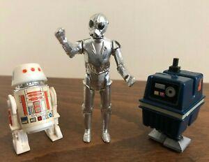 Lot of 3 Vintage Kenner Star Wars R5-D4, GNK Power Droid, Death Star Droid