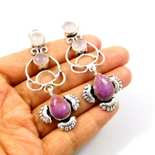 Plated Earring Jewelry Mjc9386 Purple Copper Turquoise .925 Silver
