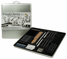 25 Piece Sketch and Drawing Pencil Set Sketching Art Kit Royal Langnickel In Tin