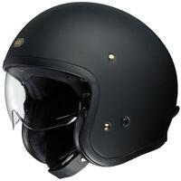 Shoei J-O Motorcycle Motorbike Classic Vintage Style Open Face Helmet Matt Black