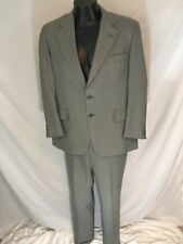Vtg 1970s Hart Shaffner Marx Grey Suit Custom Tailored Viracle Wool Poly Blend