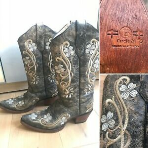 Corral Circle G Women's Western Cowboy Boots Leather Floral UK7 US9 BNWT