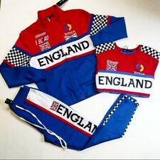 ETERNITY BC/AD men 3p set 100%AUTHENTIC SIZE LARGE blue T-shirt,Pants & jacket