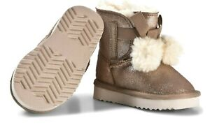 LELLI KELLY LOUNA NUDE GREY INFANT JUNIOR YOUTH FUR LINED CHILDRENS ANKLE BOOT