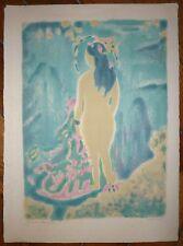 Cavailles Jules Lithographie originale signée numérotée nu féminin