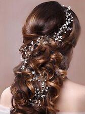 Venusvi Crystals Bridal Wedding Headband Hair Vine and Bride Headpiece 19.7''