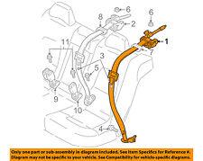 VOLVO OEM 01-04 V70 Rear Seat Belts-Belt & Retractor Left 6841678