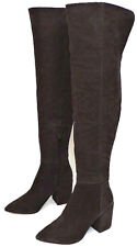 """Jessica Simpson Suede Pumella Boots Chocolate Kiss Brown 3"""" Heel Pointed Toe"""