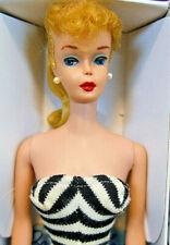 BEAUTY 1961 #5 Vintage Barbie Blonde PT S/S Booklet Glasses Stand Repro Box BIN!