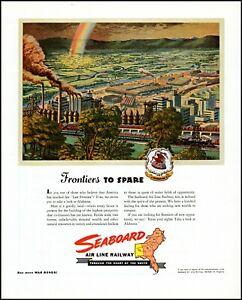 1945 Alabama Seaboard Air Line Railway factories vintage art Print Ad adL64