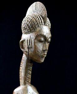 Arte Africano tribal Arte - Antica Statua Kulango Koulango - 48,5 CMS