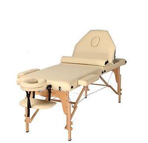 The Best Massage Table 3 Fold Cream Reiki Portable Massage Table Free Half Bolst