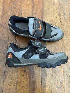 Vintage Nike ACG Mountain Bike Cycling Shoes Men's Size 8.5 Beige Brown