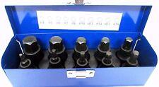 """10pc 1/2"""" Dr Cr-V Impact Hex Bit Sockets H4 - H19 US Pro 1366 / Bergen 1356"""