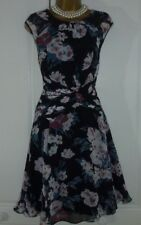 """MONSOON"" BEAUTIFUL LINED FLORAL DETAILED PARTY DRESS SIZE 14!!!"