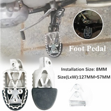 Universal 8MM Stainless Steel Off-road Motorcycle Foot Pegs Forefoot Pedal Pads