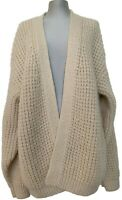 NEW, 'ARCH THE' CREAM OVERSIZED KNITTED CARDIGAN SWEATER, 34, $595