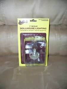 """Dollhouse Chandelier Lamp by Houseworks  2754   1"""" Scale   12 Volt   NEW"""