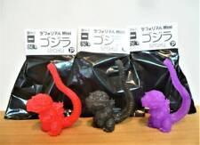 Deforeal mini GODZILLA Tokyo Comic Con 2019 set of 3 Black Red Purple Limited