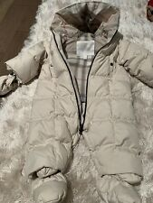 BURBERRY BABY UNISEX*BEIGE/CHECK PUFFER SNOWSUIT SZ 9MTHS - PRE-OWNED!! Orig$395