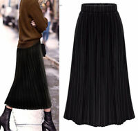 New Women Ladies Casual Party Pleated Skirt AU Size 8 10 12 14 16 18 20 #9089