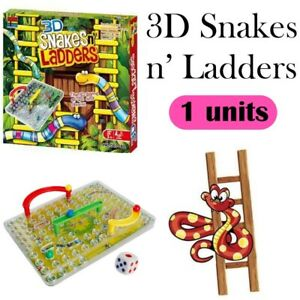 3D Snake & Ladders Board Games Family Fun Activity Kids Toy Gift Kid