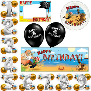 Island Adventure Pirate Birthday Party Balloon Banner Decorations Listing