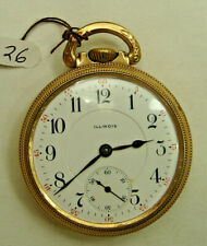 Illinois, Bunn Special, ,Railroad,  Pocket Watch, drw26