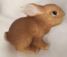 "Homco Bunny Rabbit baby ceramic Figurine 3""H x 3.5""L #1465 . Easter"