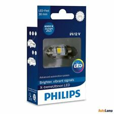 PHILIPS X-tremeVision C5W Interior LED Bulb Festoon 12V T10 38mm 6000K Single