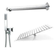 Composizione doccia Squadrata con soffione 20X20 braccio e kit duplex bossini cu