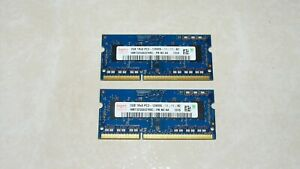 Lot 2 barrettes  memoire DDR3 SODIMM  Hynix (2 x 2Go) PC3 12800S