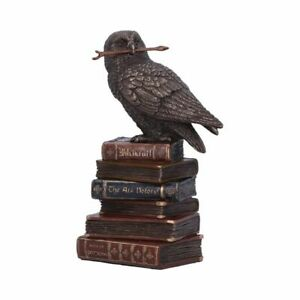 Spellcraft Cold Cast Bronze Witches Familiar Owl on Book Figurine By Veronese.