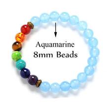 Natural Stone 7 Chakra Healing Bracelets Reiki Prayer Mala Meditation 22X Beads