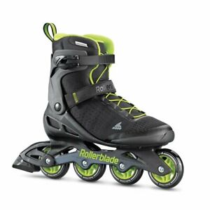 Rollerblade Elite Mens Fitness Inline Skates, Size 12, Black and Lime (Used)