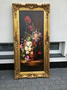 OIL PAINTING ON CANVAS IN BEAUTIFUL GOLD FRAME -  #LU32