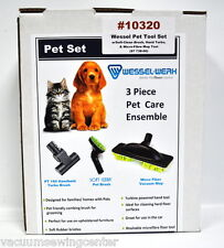 Wessel Werk 3 Piece Pet Care Set For Vacuum Cleaners