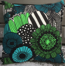 "Handmade 16"" pillow cushion case from Marimekko Pieni Siirtolapuutarha green"